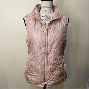 J. Crew Blush Light Rose Gold Quilted Puffer Vest